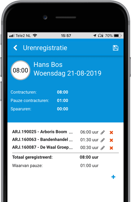 Calculatie op tablet en smartphone
